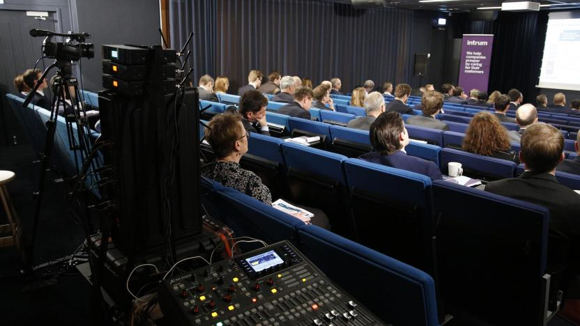 Financial Hearing in front of a live audience with webcast, live streaming, teleconference